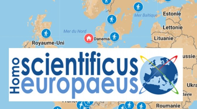 Map of the March for Science in Europe