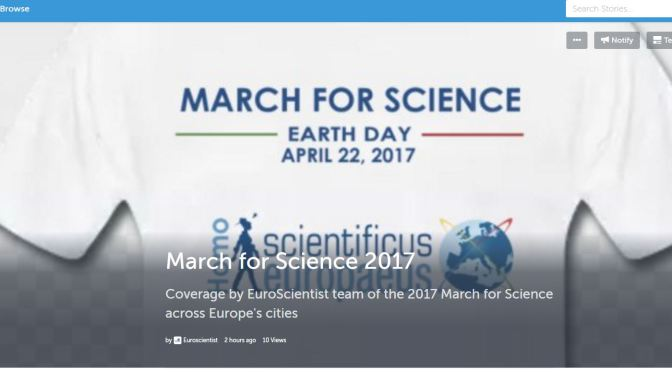 March for Science 2017- EuroScientist storify