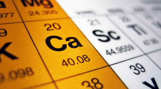 Calcium on Periodic table of elements