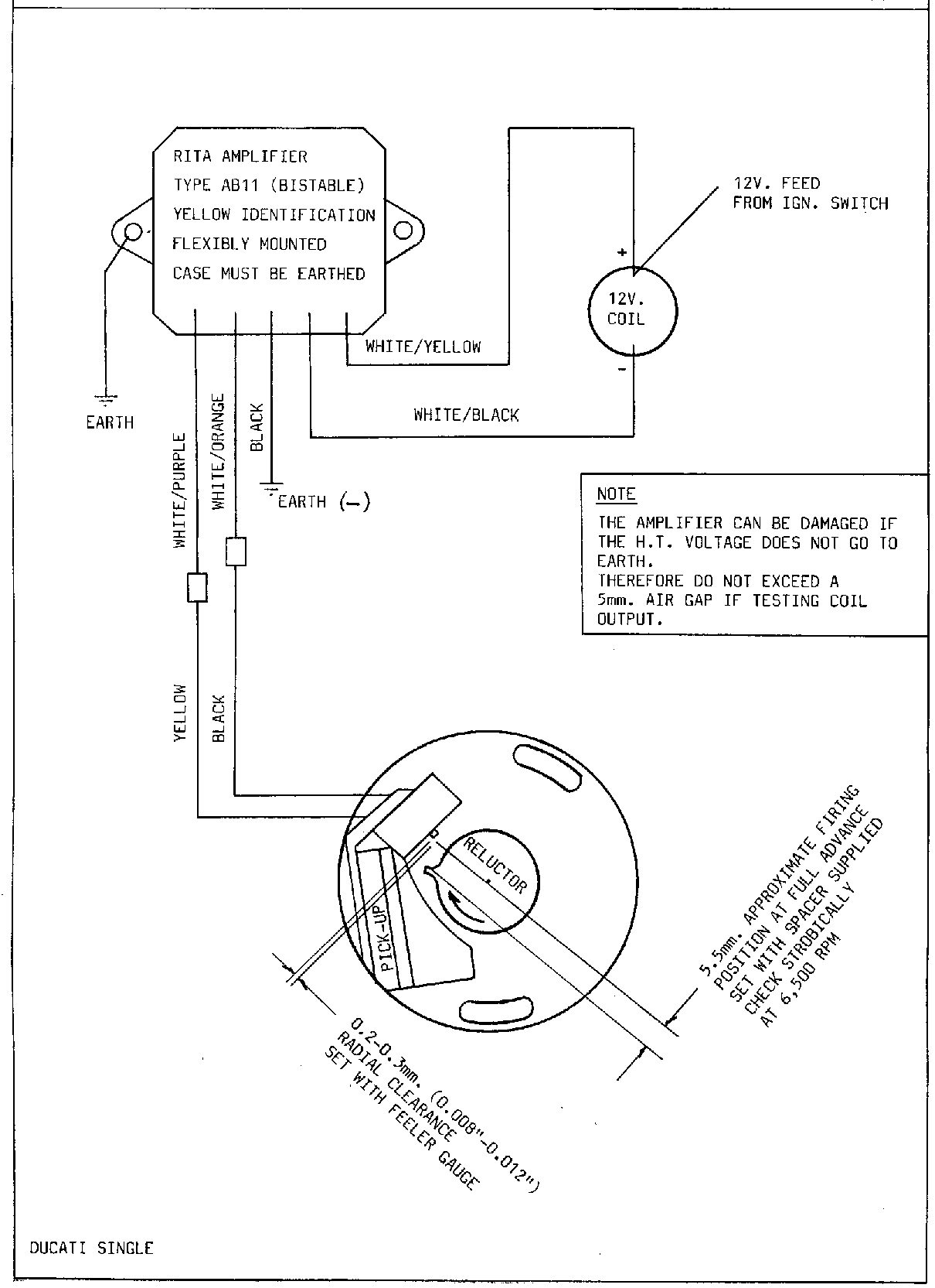 Lucas Rita Electronic Ignition Wiring Diagram