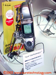 DoCoMo Wristomo (combined wrist watch and PHS mobile phone)