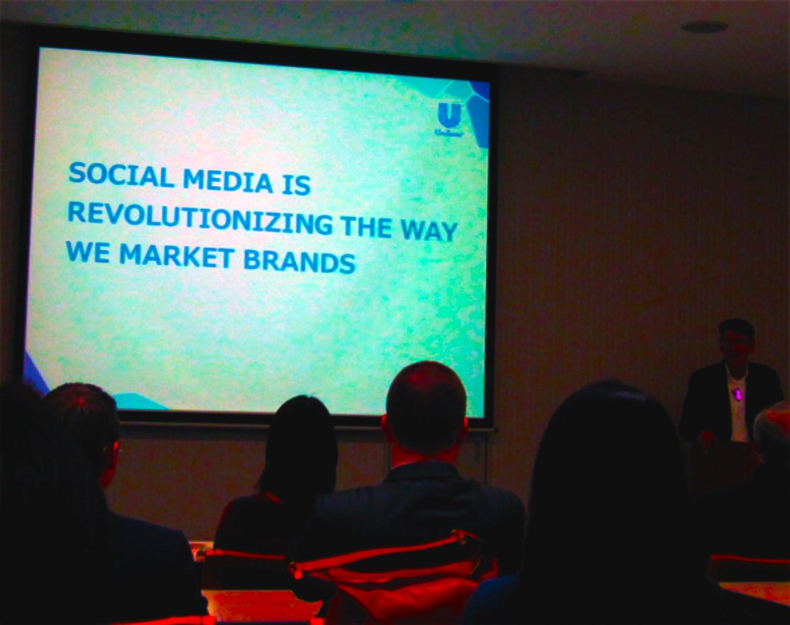 Social media marketing (Ray Bremner, President & CEO, Unilever Japan)