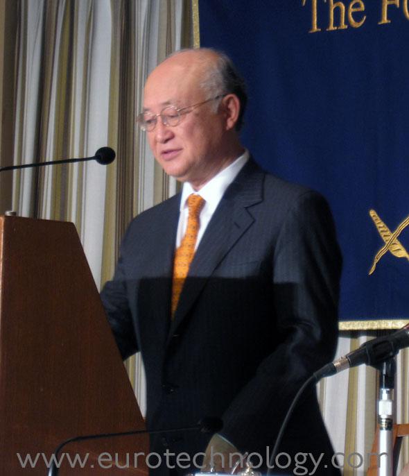 fukushima decommissioning - Director General of the International Atomic Energy Agency (IAEA) Mr Yukiya Amano (天野之弥)