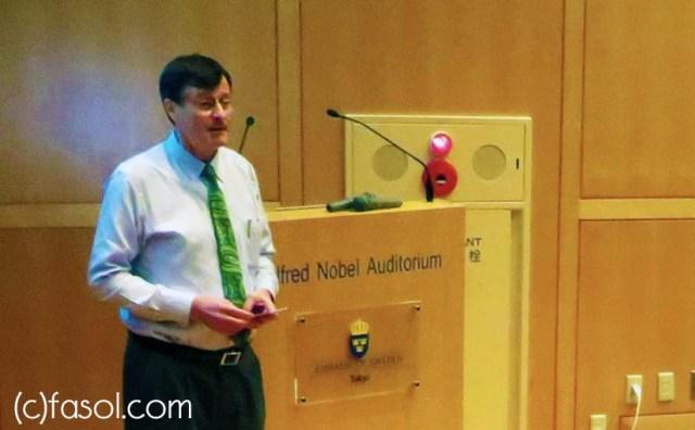 "Gerhard Fasol ""Japan energy - myths versus reality, mantra versus smart"" Embassy of Sweden"
