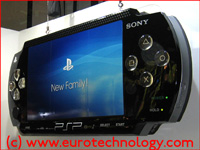 SONY PSP mockup at Tokyo Game Show TGS2004