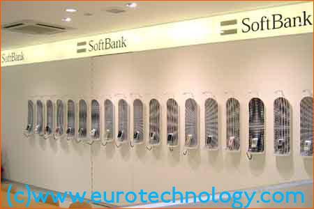 SoftBank mobile phone display