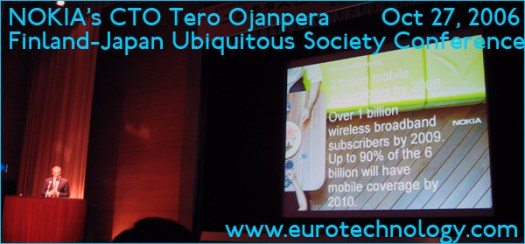 Nokia CTO Tero Ojanpera talking at the Finland Japan Ubiquitous Society Conference