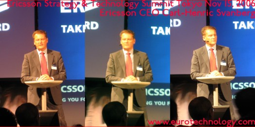 Ericsson CEO  Carl-Henric Svanberg speaking at the Ericsson summit in Tokyo