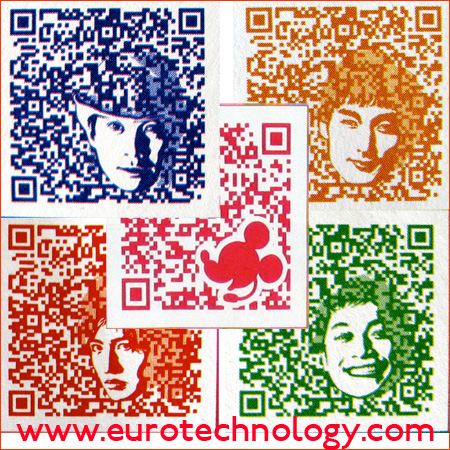 Customized QR code: Decorative QR codes in all colors