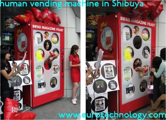 Human vending machine in Tokyo/Shibuya
