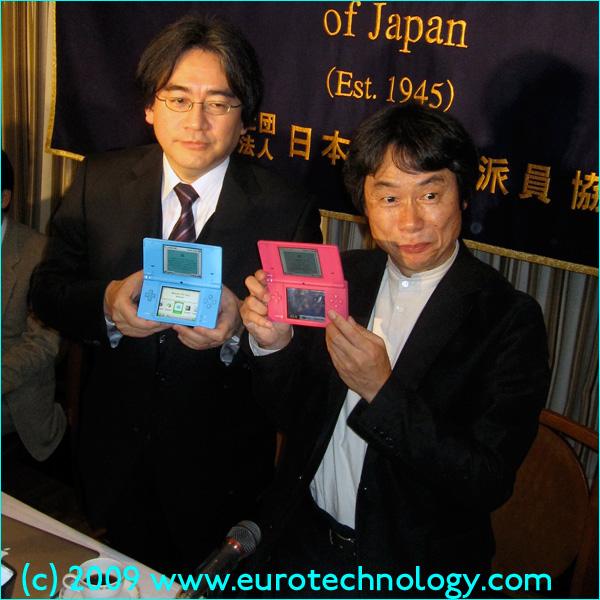 Nintendo CEO Satoru Iwata and Chief Producer Shigeru Miyamoto