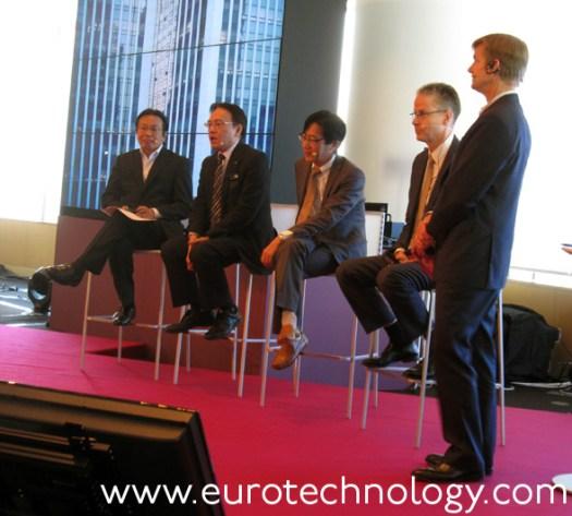 Panel (left to right): Akira Yamaguchi (Orient Corporation), Hiroyasu Asami (NTT-DOCOMO),Masashi Satomura (Honda), Jan Signell (Ericsson)