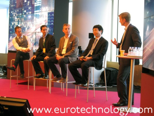 Panel (left to right): Dan Simmons (BBC), Jacob Navok (Square-Enix), Ulf Ewaldsson (Ericsson), Yung-Ha Ji (KT Corporation)