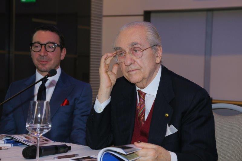 Nella foto, da sinistra: Gianluca Boccoli e Gualtiero Marchesi