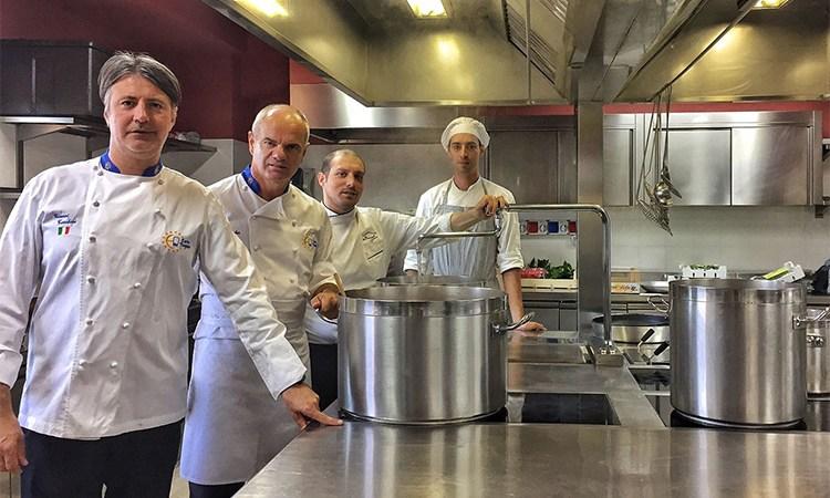 Quattro chef Euro-Toques in cucina rendono omaggio a Donna Olimpia