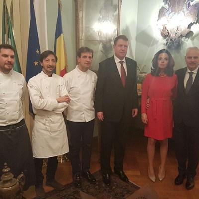 I fratelli Serva a Bucarest chiudono <br>la Settimana della cucina italiana