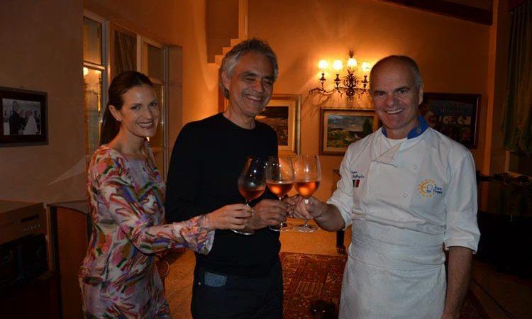 Carissimo Enrico… Un sentito grazie da Bocelli a Euro-Toques