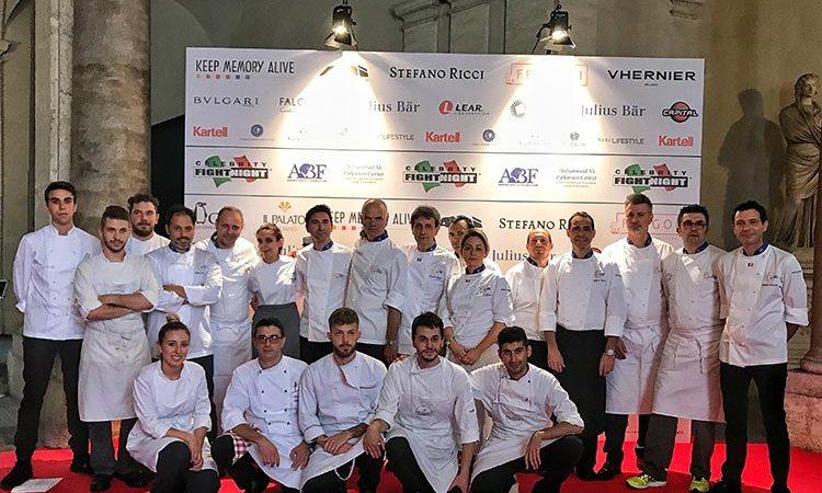 Euro-Toques, la solidarietà della cucina in tavola alla Celebrity Fight Night