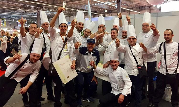 Campionato di Finger food Medaglia d'oro al Team Costa del Cilento – Euro-Toques