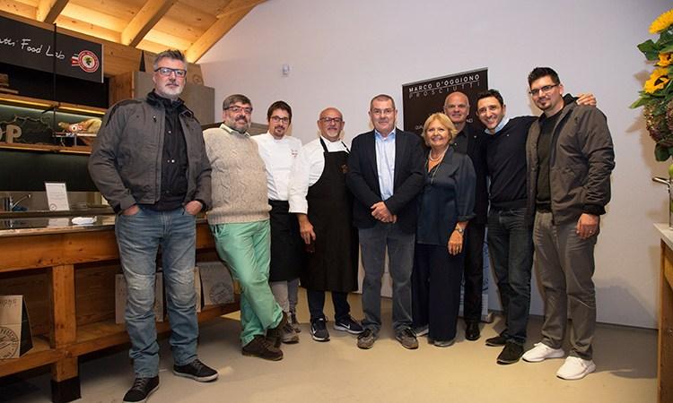 Soci Euro-Toques in festa da Marco d'Oggiono Prosciutti