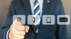 man pointing at icons