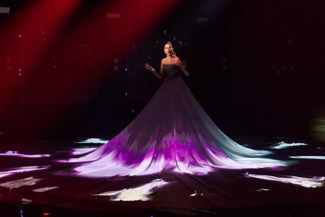 Elina Nachayeva podczas występu w Eesti Laul 2018 | ~ eurovision.ee