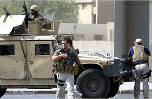Soldados de Blackwater en Iraq