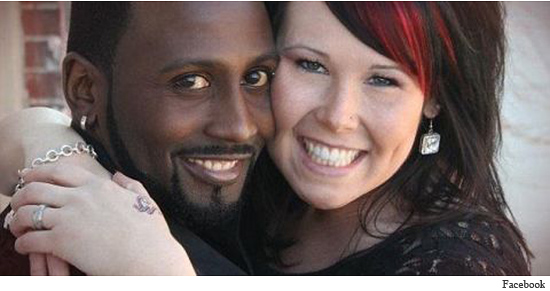 "Previously misidentified as her boyfriend, Shaynna Simms poses here with her ""husband"" Montie."