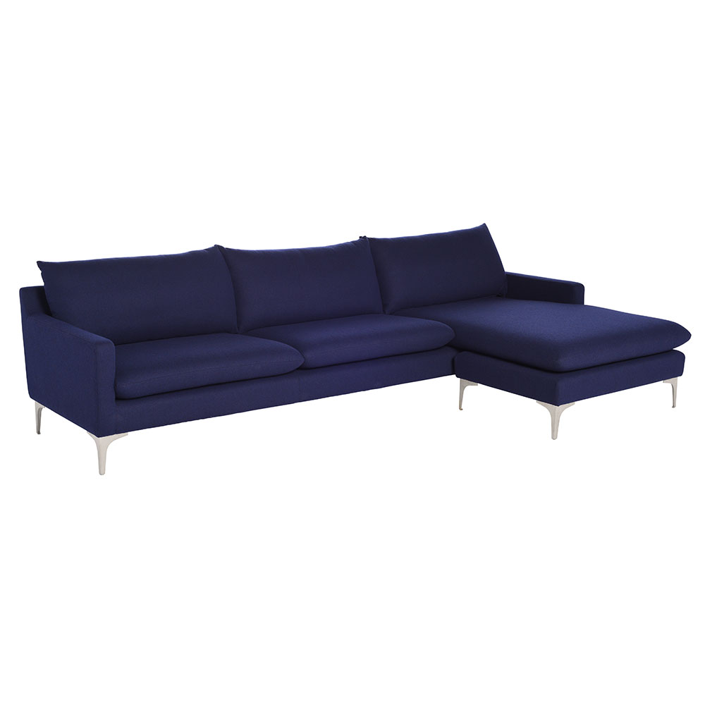 andre sectional sofa navy blue