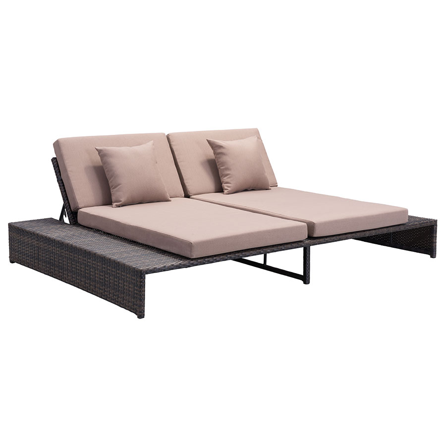 delmar modern outodor double chaise eurway modern