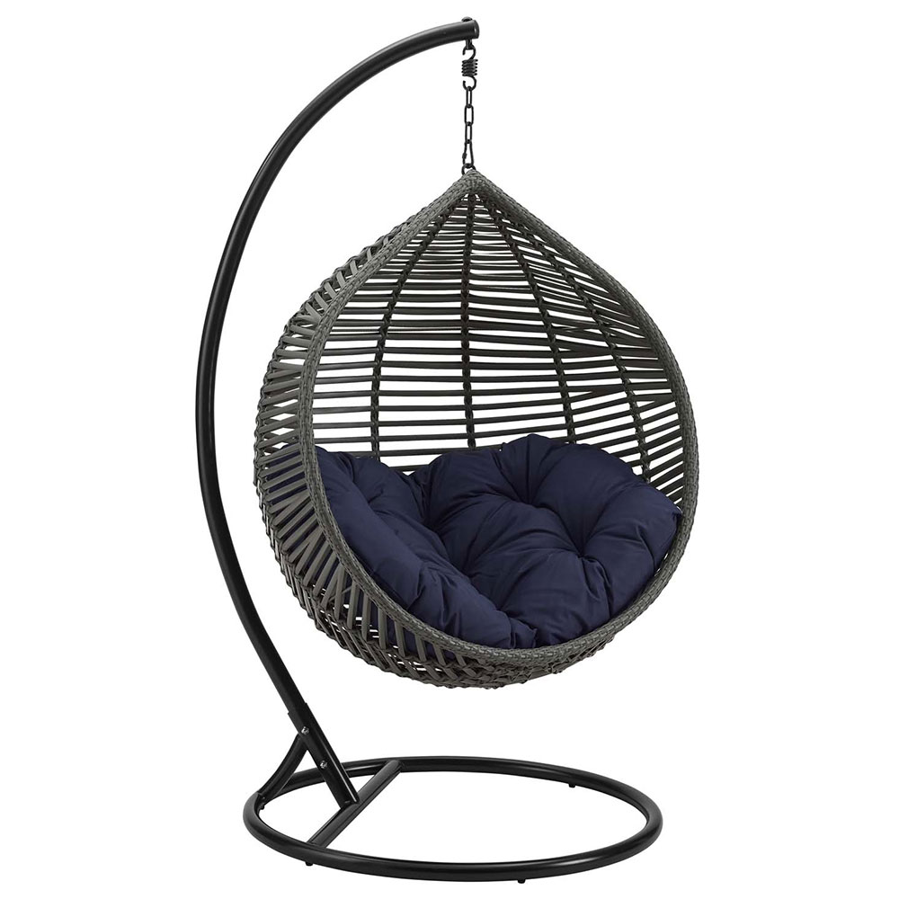 Grace Modern Outdoor Navy Hanging Swing Chair Eurway