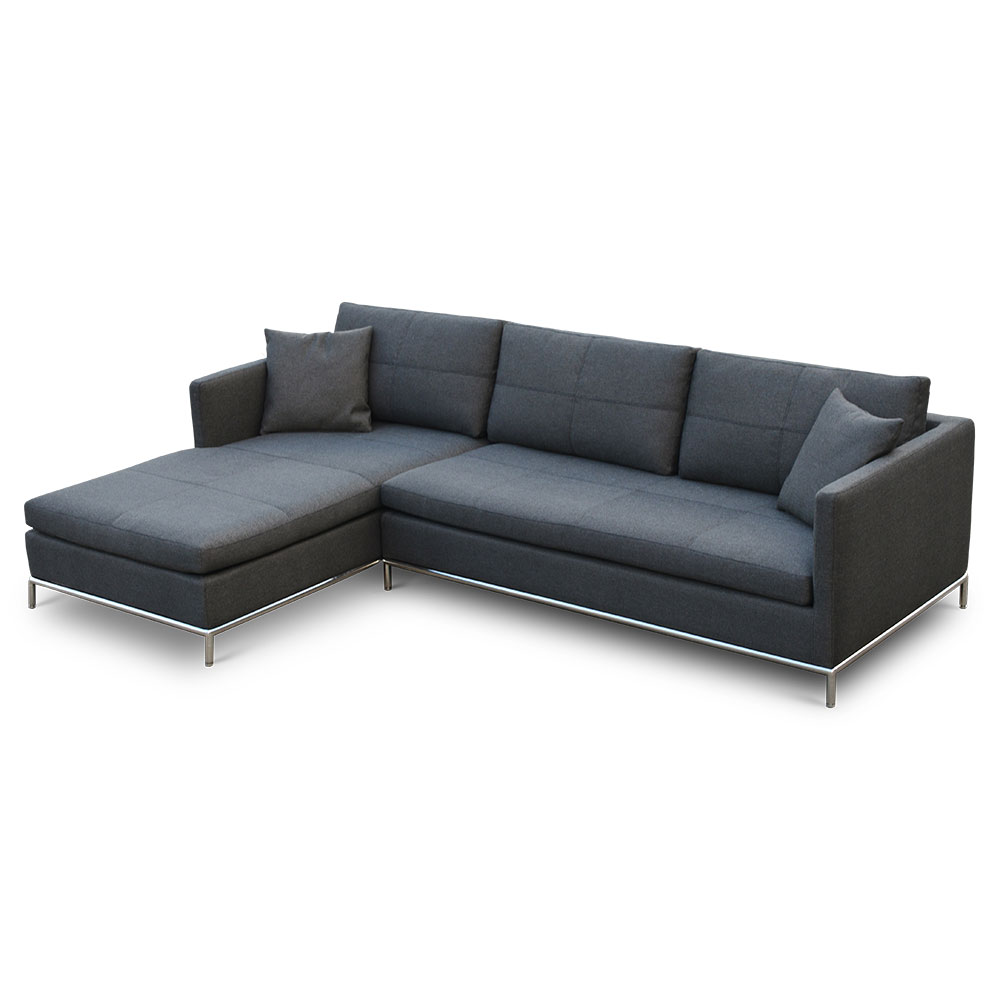 istanbul left facing chaise sectional black pepper