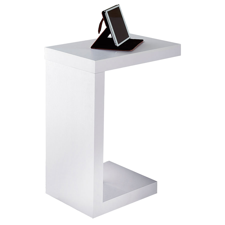 nick accent table white