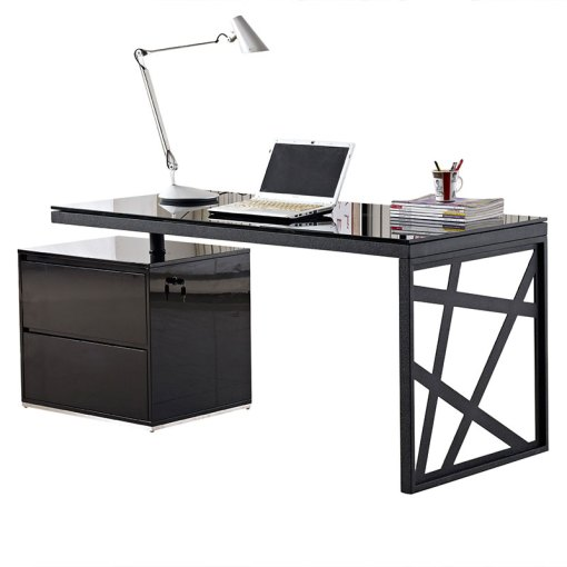 Modern Desks   Krauss Desk W  File   Eurway Furniture Call to Order      Krauss Modern Black Desk with File