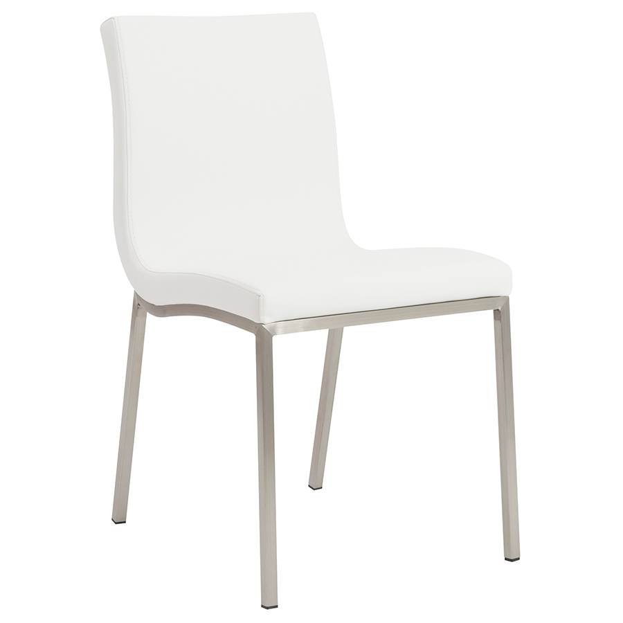 Best Kitchen Gallery: Smith Modern White Dining Chair Eurway Furniture of Dining Chairs Modern  on rachelxblog.com