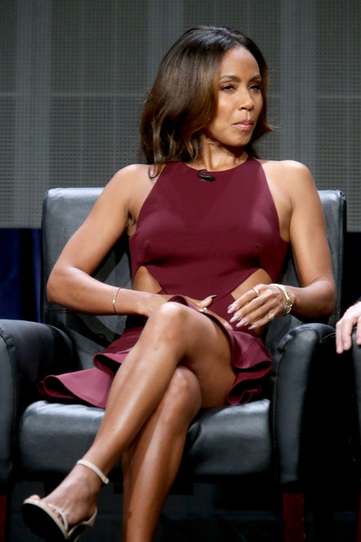 """Actress Jada Pinkett Smith speaks onstage at the """"Gotham"""" panel during the FOX Network portion of the 2014 Summer Television Critics Association at The Beverly Hilton Hotel on July 20, 2014 in Beverly Hills, California"""