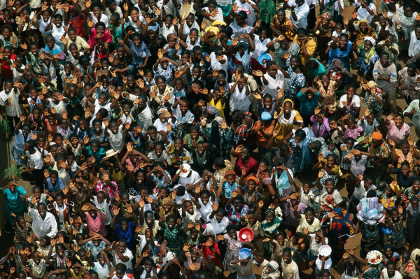 African crowd