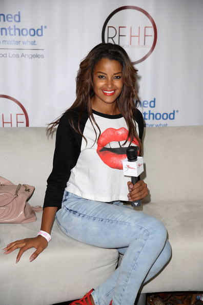 Model/radio personality Claudia Jordan attends Fan Fest - AT&T, Geico, Poetic Jeans, Sneaker Con, Tennis, Xbox, Health And Wellness, Nickelodeon, Opening Concert, Centric Centrified during the 2014 BET Experience At L.A. LIVE on June 28, 2014 in Los Angeles, California