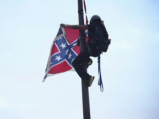 Activist Bree Newsome removes Confederate flag from South Carolina Statehouse