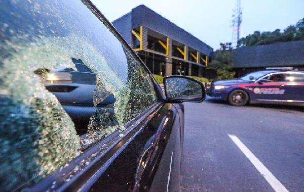 cars shot up at rick ross studio