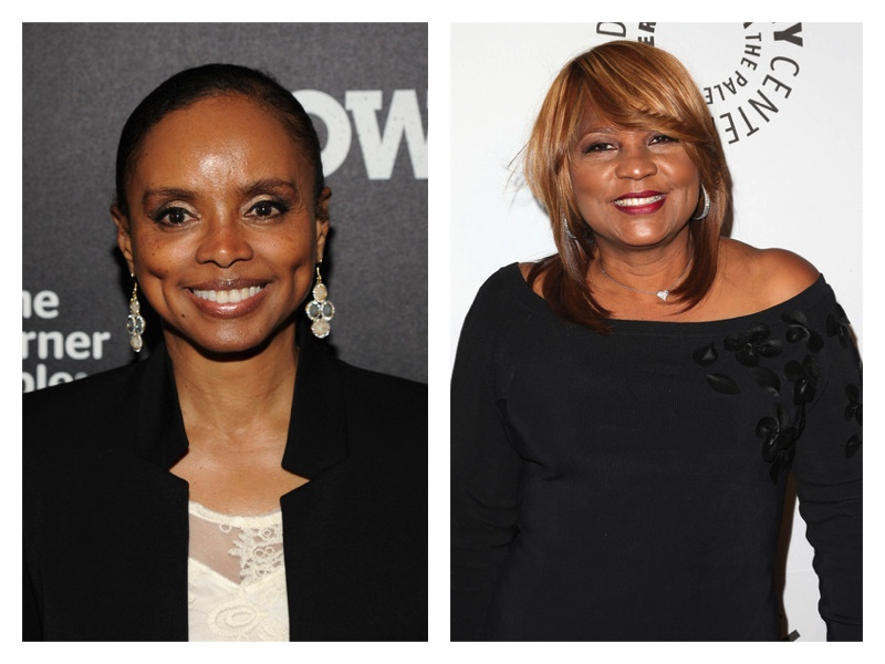 Debbi Morgan (L) and Evelyn Braxton