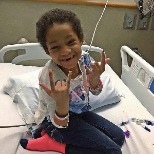 Leah Still smiling as she finishes last 5 day treatment