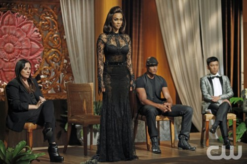 "America's Next Top Model -- ""Finale Part 2: The Guy or Girl Who Becomes America's Next Top Model"" pictured left to right: Kelly Cutrone, Tyra Banks, Rob Evans and Bryanboy Cycle 20 Photo: Angelo Sgambati/The CW ©2013 The CW Network, LLC. All Rights Reserved"