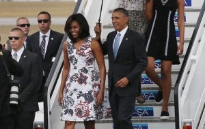 Michelle+Obama+President+Obama+Arrives+Cuba+ibeqMFHX8Mnl
