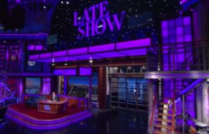 "Stephen Colbert features special purple lighting to honor Prince on ""The Late Show"" (April 21, 2016)"
