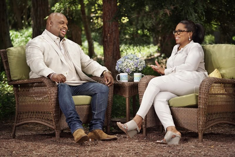 "John Gray and Oprah Winfrey on ""SuperSoul Sunday"""