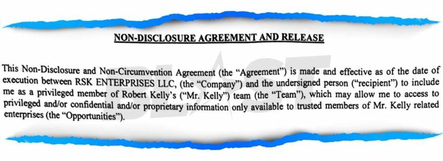 R Kelly Here S The Non Disclosure Agreement He Allegedly