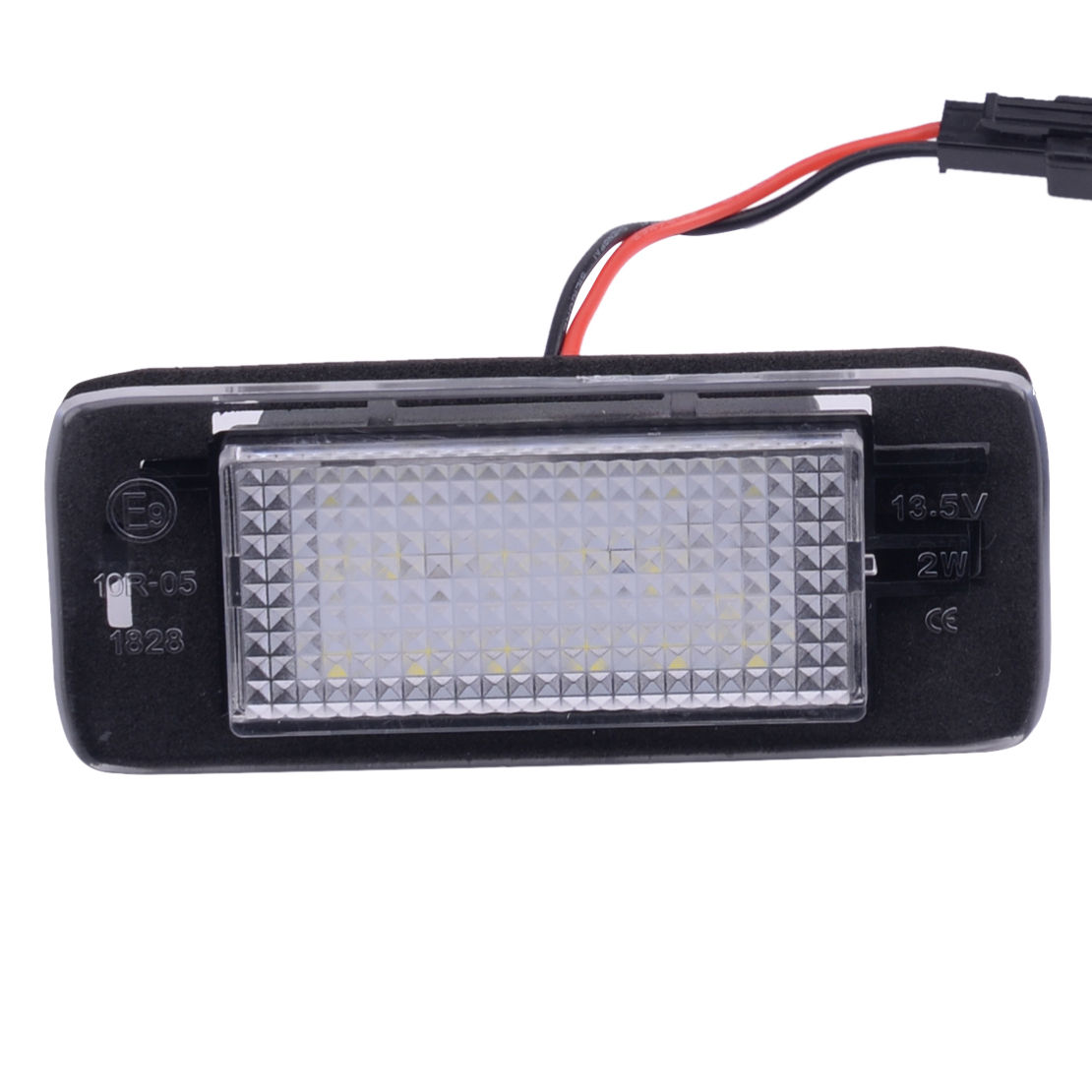 Clear 2pcs Rear License Plate Light Fit For Chevrolet