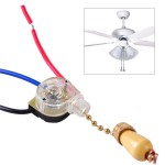 3 Wires Ceiling Fan Light Pull Chain Cord Switch Control Replacement Wall Lamp Ebay