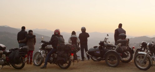 Hindustan Motorcycling Team in Kumaon near Almora